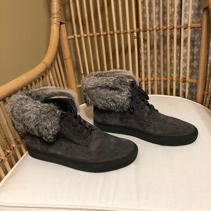 Vince Fur Sneakers